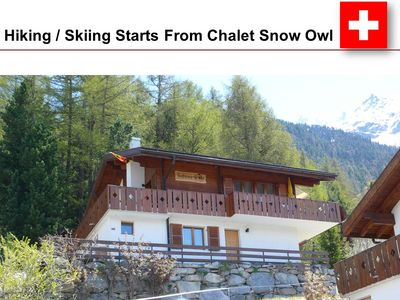 Photo for Beautiful Swiss Chalet with Mountain Views of the Alps - Near Zermatt