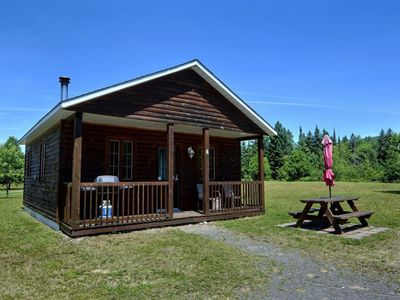 Photo for Beautiful cottage in Val-David - Log house #4