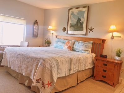 Comfortable King Bed and surrounding furnishings
