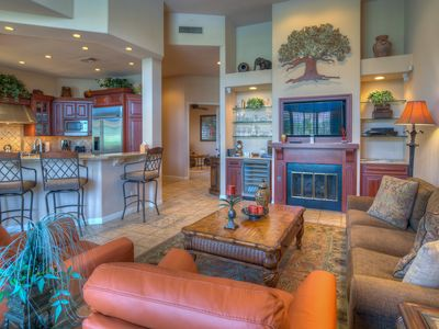 Photo for Stunning Lake and Mountain views. Best location in Pga West. Golf cart/bikes