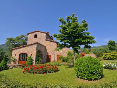 Photo for Villa with private swimming pool and organic products, at 450m altitude