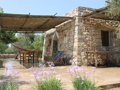 Photo for Salento charming and romantic trullo site in a vineyard near Gallipoli