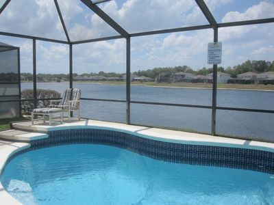 Photo for Sunset Vista Luxury Lakeside Villa mins from Disney, INCLUDES Pool & Spa heating