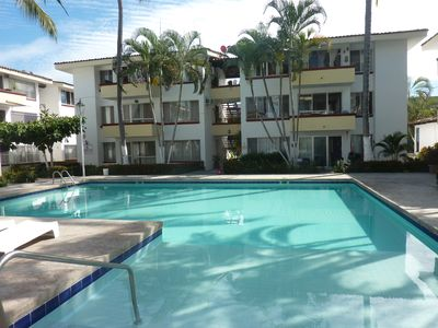 Photo for 3 BD apartment near beach and with large pool