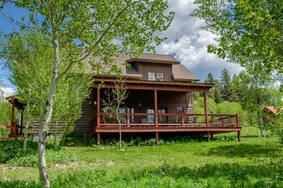 West of West Lodge is in a woodsy vacation home neighborhood about 8 miles from West Yellowstone, which is the West entrance to Yellowstone National Park.