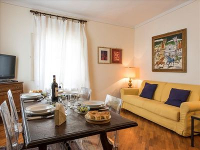 Photo for Rivoire apartment in Duomo with WiFi, integrated air conditioning, balcony & lift.