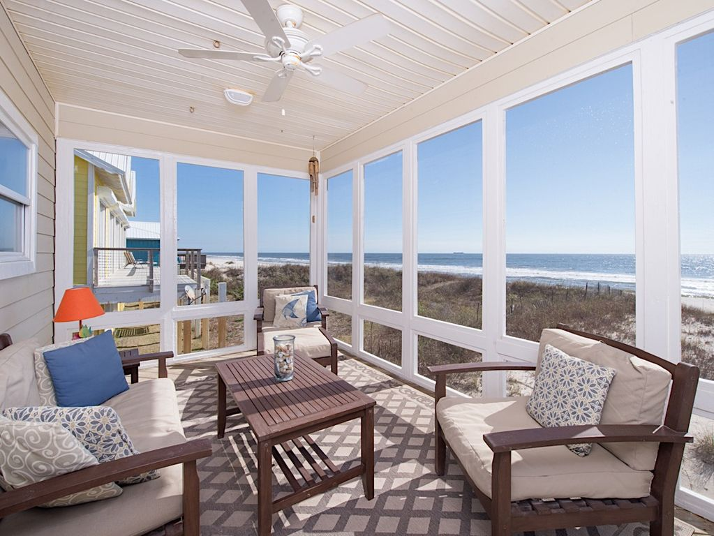 Gulf shores house rental screened deck take in all of the view without