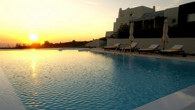 Photo for A PIECE OF HEAVEN. MUSIC VILLA 5 BEDROOMS LARGE POOL SANTORINI
