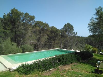 Photo for Natural stone villa with pool in the mountains - Villa Sa Mola de Vall d´Urgent