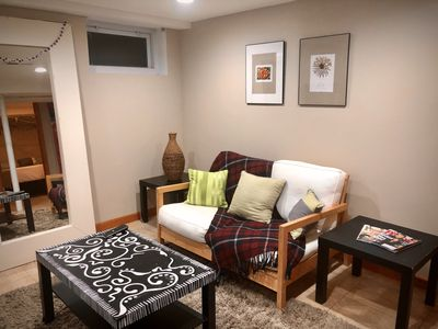 Photo for Cozy Stylish Space (lower level)