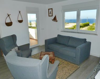 Photo for Apartment WAZA - Terrace sea view 100m from the beach of Beliche - Wifi