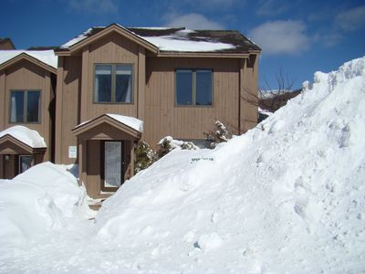 """Late winter. Bolton Valley gets almost 300"""" of snow in a typical winter!"""