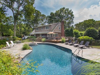 Photo for Hamptons Oasis - salt/heated pool, hot tub, fire pit, Central Air & more