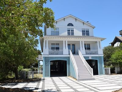 Photo for Charming and Spacious Creekfront Beach House, Ocean Views, Creek Dock w/ Deep Water  Access, Crows Nest and More!