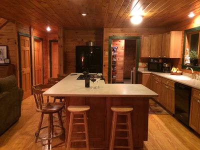 Fully equipped kitchen with island for gathering
