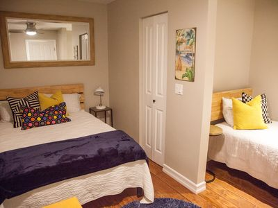 second bedroom with 2 beds one full size bed and one twin size bed