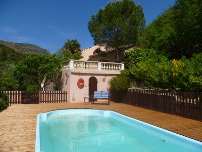 Photo for Spacious Three Bedroom Mountain Villa with Pool
