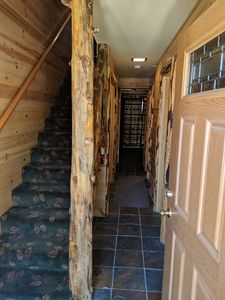 Entry, upstairs to living area. Bedrooms on entry level