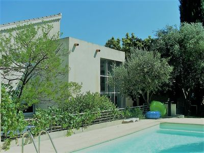 Photo for BANDOL-BEAUTIFUL CONTEMPORARY VILLA BEACH AND TOWN CENTER ON FOOT, SWIMMING POOL, GARDEN