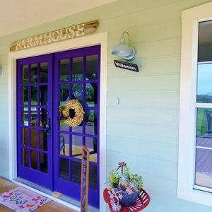Welcome to the Rustic Grape farmhouse. Sit and sip wine on our huge porch.