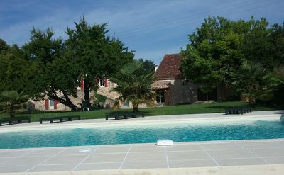 Photo for Beautiful Stone House Private Pool set in 3 hectares of gardens 10 mins Bergerac