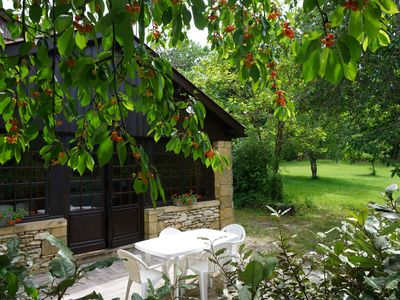Photo for Cottage 2/4 pers. with swimming pool in Saint Cyprien, in the heart of Black Perigord