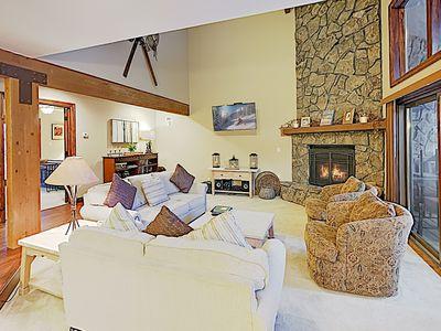 Photo for Large Luxe Mountain-View Retreat w/ Private Hot Tub & Sauna - Walk to Dining