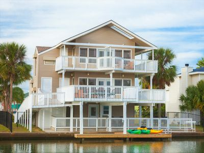 Photo for 🌴 Waterfront home 5 min to beach. Free bikes & kayaks! Great fishing!