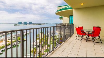 Photo for Enjoy your paradise vacation on the bay while taking in magnificent Gulf views!