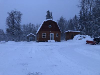 Photo for Modern Cabin Awesome views close to Kasilof river  wood fired Sauna