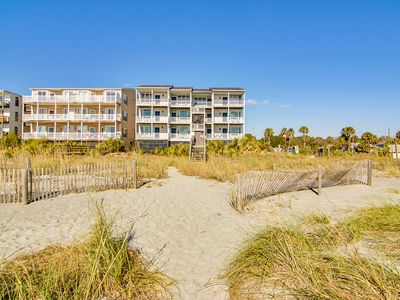 Photo for Oceanfront, third-floor condo with views of the ocean and Folly Beach Pier!