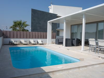 Photo for design house with private pool, on the beach