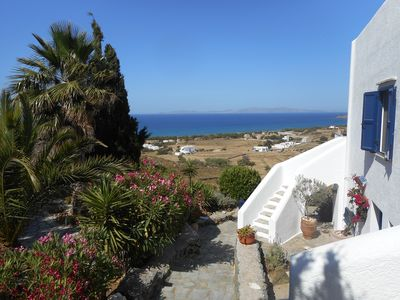 Photo for Tinos, sunset on the Aegean Sea, villa located on a 4500-m² plot