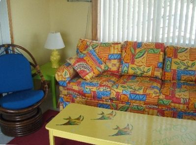 This is a bonus room with a Queen sleeper sofa
