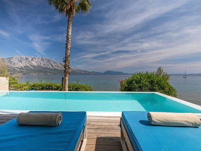 Photo for Villa Madouri. 5 bed seafront villa with private pool