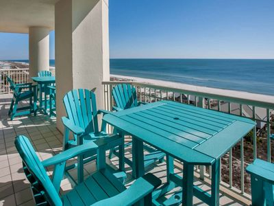 Photo for East corner Gulf-Front condo on 8th floor - expansive views | Pool, hot tub, Wifi | Free Activities