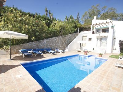 Photo for Secluded Villa With Private Pool, Garden And Stunning Views, near beaches, wifi