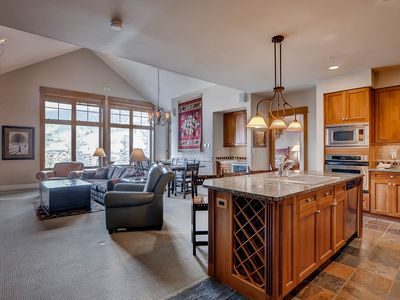 Photo for Ski in/Ski out luxury 3 bdrm just steps from the Village