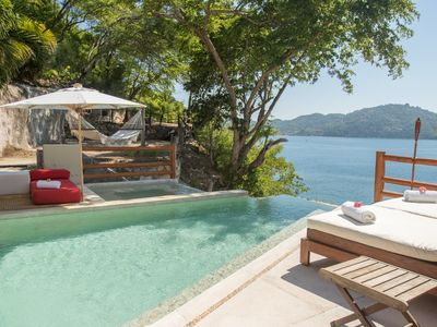 Photo for Luxury villa with spectacular views in Zihuatanejo. 4 bedrooms.  Sleeps 8.