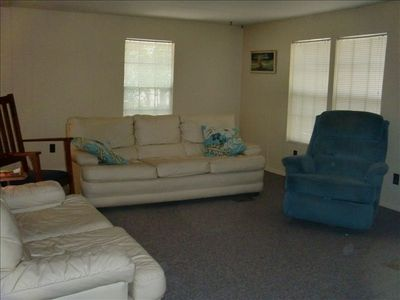 Spacious living room for socializing, relaxing, or watching a big game!