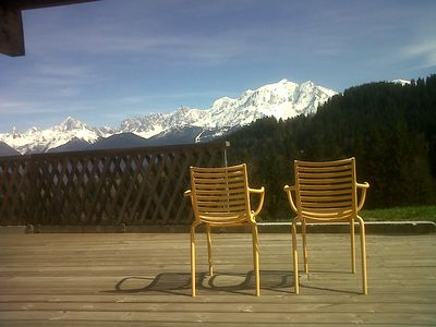 Photo for Chalet Cordon / Combloux / Megève, extraordinary view of Mt-Blanc