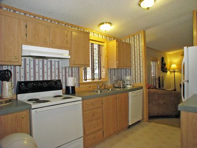 Kitchen with dishwasher, coffee maker, full-size appliances, all you'll need!