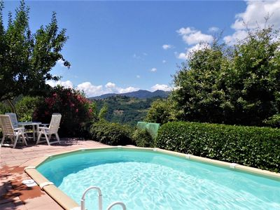 Photo for NEW . Villa with private pool, fantastic views, 3km from Bagni di Lucca, WIF