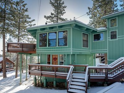 Photo for MILLION DOLLAR VIEWS!  Large Deck. Minutes to water. Blocks from Village.