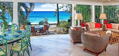 Photo for Villa Seascape  -  Beach Front - Located in  Wonderful Gibbs Beach with Private Chef Services