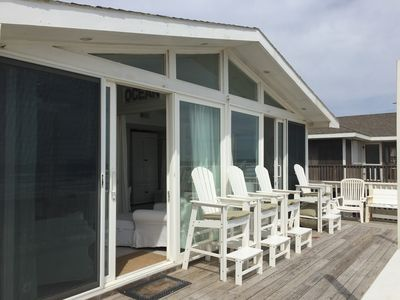 Lifeguard Chairs On Front Deck