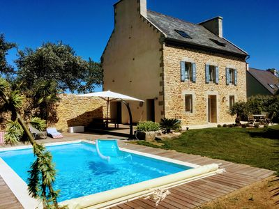 Photo for Beautiful house with landscaped garden and pool in Plounéour-Brignogan-Plages.
