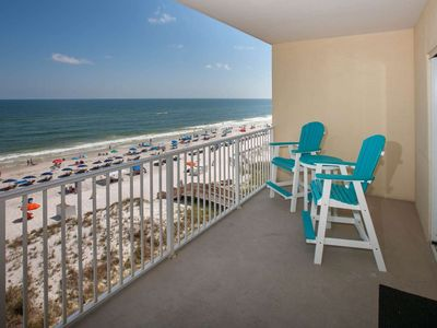 Photo for Gulf-front 5th floor | Out/In Swim-thru pool, Hot Tub, Fitness, Sauna/Steam, Wifi | Free Activities