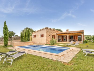 Photo for Natural stone finca with private pool between Sineu and Ariany
