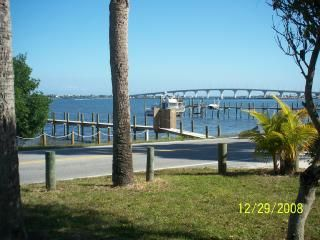 View from house towards Indian River & causeway over to beach
